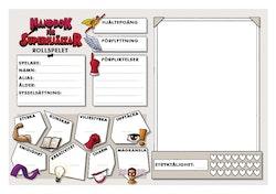 Handbok för superhjältar - rollspelet: Rollformulärsblock