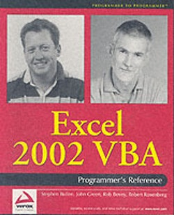 Excel 2002 VBA : Programmers Reference