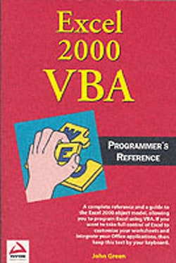 Excel 2000 VBA: Programmers Reference