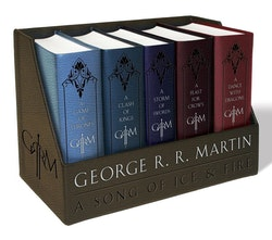 George r. r. martins a game of thrones leather-cloth boxed set (song of ice