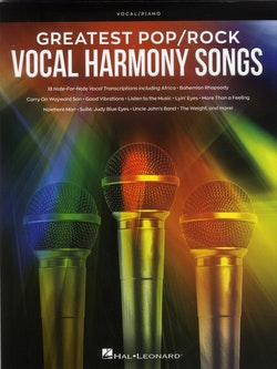 Greatest pop/rock Vocal Harmony Songs