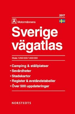 Sverige vägatlas 2017 Motormännens : 1:250 000-1:400 000