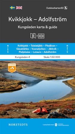 Kvikkjokk Adolfström Kungsleden 4 Karta och guide : Outdoorkartan skala 1:50 000