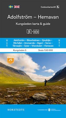 Adolfström Hemavan Kungsleden 5 Karta och guide : Outdoorkartan skala 1:50 000