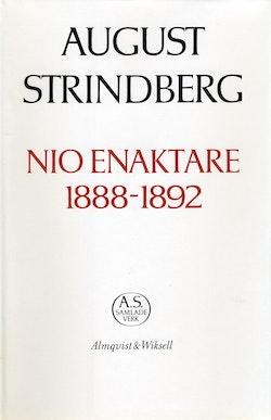Nio enaktare 1888-1892 : Nationalupplaga. 33, Nio enaktare 1888-1892