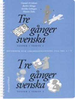 Tre gånger svenska 1-2 Lärarhandledning
