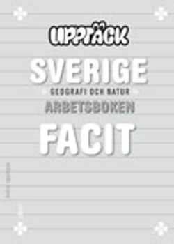 Upptäck Sverige Geografi Facit 5-pack