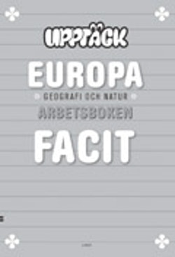 Upptäck Europa Geografi Facit 5-pack