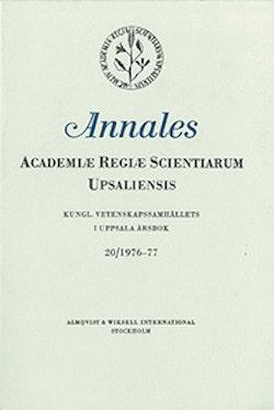 Kungl. Vetenskapssamhällets i Uppsala årsbok 20/1976-77
