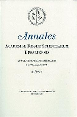 Kungl. Vetenskapssamhällets i Uppsala årsbok 21/1978