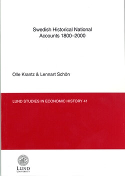 Swedish Historical National Accounts 1800-2000