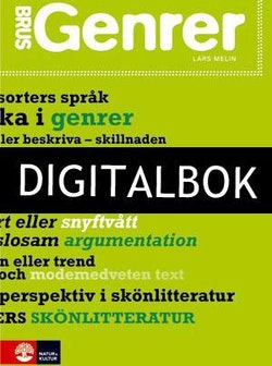 BRUS Genrer Elevbok Digitalbok ljud