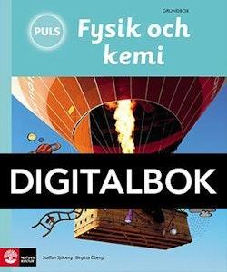 PULS, Fysik och kemi 4-6 Grundbok Digital, tredje upplagan UK