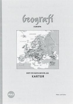 Geografi. Europa. Kopieringsunderlag kartor