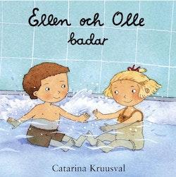 Ellen och Olle badar