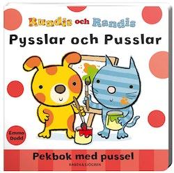 Rundis och Randis pysslar och pusslar : pekbok med pussel