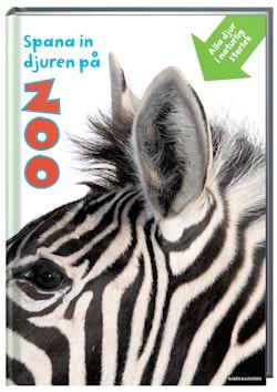 Spana in djuren på zoo. Alla djur i naturlig storlek