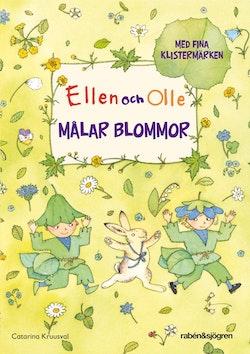 Ellen och Olle målar blommor
