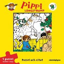 Pippi Långstrump - Pussel och citat - Pusselbok