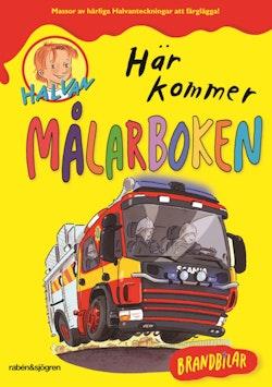Halvan - Här kommer målarboken : brandbilar