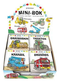 Mini-bok - Traktor, grävmaskin, kranbil, brandbil