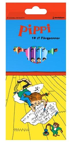 Pippi 10 st Färgpennor