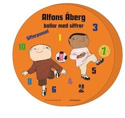 Alfons Åberg bollar med siffror - Sifferpussel