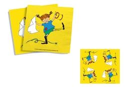 Pippi - Servetter : Kalaskit - 20-pack