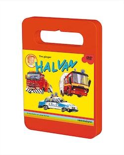 Tre gånger Halvan : Här kommer brandbilen, polisbilen, bärgningsbilen