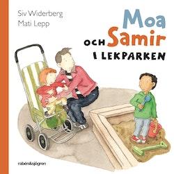 Moa och Samir i lekparken