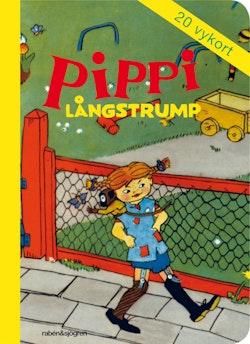 Pippi Långstrump - Vykortsbok : 20 vykort