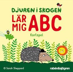 Djuren i skogen lär mig ABC -  kortspel