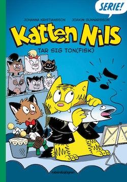 Katten Nils tar sig ton(fisk)