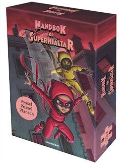 Handbok för superhjältar box : pysselbok, plansch och pussel 150 bitar