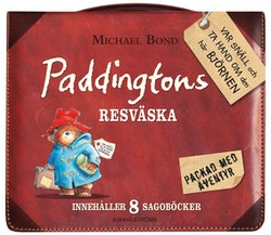 Paddingtons resväska innehåller 8 sagoböcker