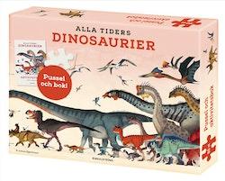 Alla tiders dinosaurier: aktivitetsbok och pussel 150 bitar