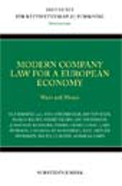 Modern company law for a European economy : ways and means