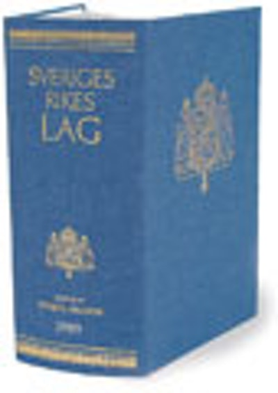 Sveriges Rikes Lag 2010 (klotband) : Sveriges Rikes Lag gillad och antagen på Riksdagen år 1734, stadfäst av Konungen den 23 januari 1736. Med tillägg av författningar som kommit ut från trycket fram till och med den 31 december 2009.