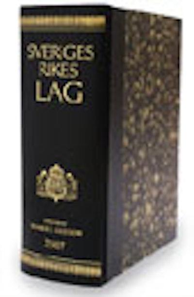 Sveriges Rikes Lag 2010 (skinnband) : Sveriges Rikes Lag gillad och antagen på Riksdagen år 1734, stadfäst av Konungen den 23 januari 1736. Med tillägg av författningar som kommit ut från trycket fram till och med den 31 december 2009.