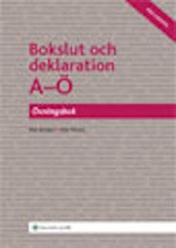 Bokslut och deklaration A-Ö, Övningsbok