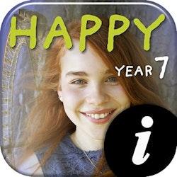 Happy Year 7 Textbook+Workbook digital elevlic 12 mån