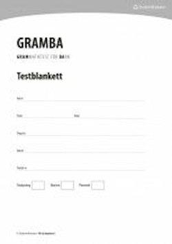 Gramba testblanketter (25 st.)