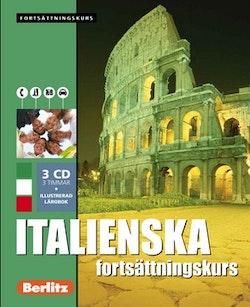 Italienska fortsättningskurs, språkkurs : Språkkurs med 3 CD