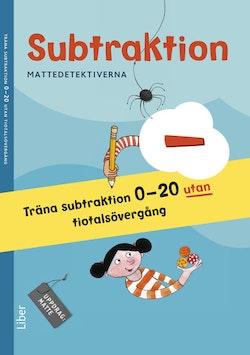 Mattedetektiverna Träna Subtraktion 0-20 utan tiotalsövergång 10-pack