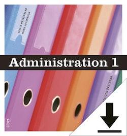 Administration 1 Lärarhandledning (nedladdningsbar) 12 mån