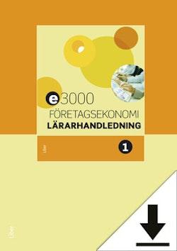 E3000 Företagsekonomi 1 Lärarhandledning (nedladdningsbar)