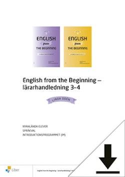 English from the Beginning 3 och 4 Lärarhandledning (nedladdningsbar) 12 mån