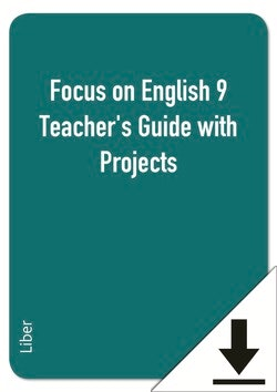 Focus on English 9 Teacher's Guide with Projects (nedladdningsbar)