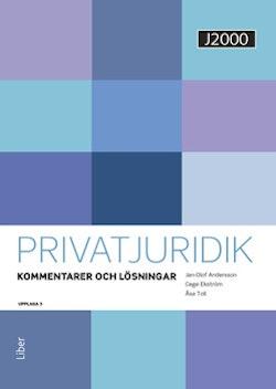 J2000 Privatjuridik Kommentarer och lösningar