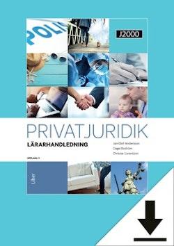 J2000 Privatjuridik Lärarhandledning (nedladdningsbar) 12 mån